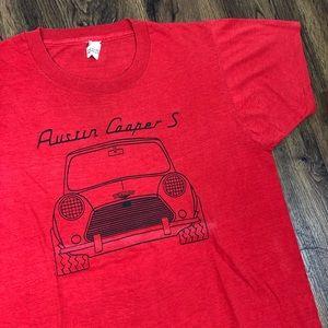 80s Austin Cooper (MINI) Car T Shirt Large